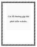 Các lỗi thường gặp khi phát triển website.