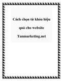Cách chọn từ khóa hiệu quả cho website Tanmarketing.net