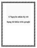 6 Nguyên nhân bị rớt hạng từ khóa trên google