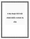 6 thủ thuật SEO bất chính khiến Website bị chặn