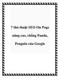 7 thủ thuật SEO on page nâng cao ,chống panda penguin của google