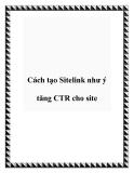 Cách tạo Sitelink như ý tăng CTR cho site
