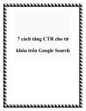 7 cách tăng CTR cho từ khóa trên Google Search