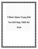 9 Bước Quan Trọng Khi Seo Kết Hợp Thiết Kế Web