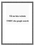 Tối ưu hóa website TMĐT cho google search