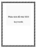 Phân tích đối thủ SEO keywords