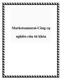 Marketsamurai-Công cụ nghiên cứu từ khóa