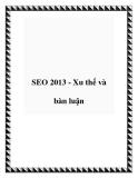 SEO 2013 - Xu thế và bàn luận