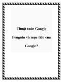 Thuật toán Google Penguin và mục tiêu của Google?