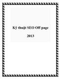 Kỹ thuật SEO Off page 2013
