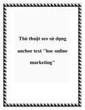 "Thủ thuật seo sử dụng anchor text ""hoc online marketing"""