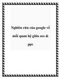 Nghiên cứu của google về mối quan hệ giữa seo & ppc