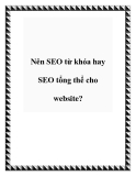 Nên SEO từ khóa hay SEO tổng thể cho website?