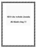 SEO cho website Joomla đã thành công !!!
