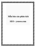 Mẫu báo cáo phân tích SEO - yeuseo.com