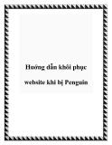 Huớng dẫn khôi phục website khi bị Penguin