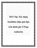 SEO Tip: Xây dựng backlinks hiệu quả dựa trên đánh giá về Page Authority