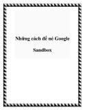Những cách để né Google Sandbox