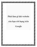 Phải làm gì khi website của bạn rớt hạng trên Google