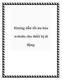 Hướng dẫn tối ưu hóa website cho thiết bị di động.
