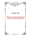 Luận văn: Tình hình sản suất kinh kinh doanh công ty bia Sài Gòn –Nghệ Tĩnh