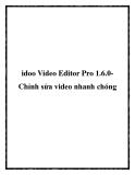 idoo Video Editor Pro 1.6.0 Chỉnh sửa video nhanh chóng