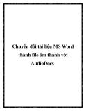 Chuyển đổi tài liệu MS Word thành file âm thanh với AudioDocs