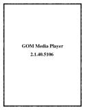 GOM Media Player 2.1.40.5106