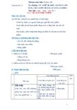 Giáo án số 13 - Bài 6: VỆ SINH THỰC PHẨM