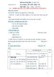 Giáo án số 5 - Bài 2: NHIỆM VỤ CỦA CÁC CHỨC DANH TRONG NHÀ HÀNG