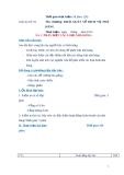 Giáo án số 3 - Bài 3: PHÂN BIỆT CÁC LOẠI NHÀ HÀNG
