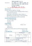 Giáo án số 8 - Bài 1: CÁC TRANG THIẾT BỊ TRONG NHÀ HÀNG