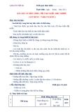 GIÁO ÁN THỰC HÀNH SỐ 4 - BÀY BÀN ÂU BỮA TRƯA, TỐI THEO KIỂU ĐẶT TRƯỚC ( SET MENU / TABLE'D HOTE )