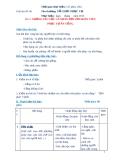 Giáo án số 6 - Bài 3: NHỮNG YÊU CẦU CÁ NHÂN ĐỐI VỚI NHÂN VIÊN PHỤC VỤ ĂN UỐNG