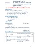 Giáo án số 11 - Bài 4: CÁC PHƯƠNG PHÁP VỆ SINH VÀ THIẾT BỊ LAU CHÙI