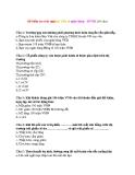 Đề kiểm tra trắc nghiệm Tiền tệ ngân hàng - HVNH (30 câu)