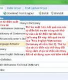 Hướng dẫn cài đặt và sử dụng từ điển Việt Anh Lingoes