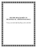 BÀI THU HOẠCH DIỄN ÁN HỒ SƠ DÂN SỰ - KDTM SỐ 011/DAL3