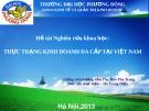 Luận văn đề tài : Thực trạng kinh doanh đa cấp tại Việt Nam hiện nay