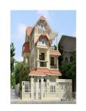 Thiết kế biệt thự 3 tầng theo phong cách châu Âu