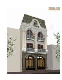 Thiết kế nhà có 2 căn riêng biệt kết hợp cửa hàng, DT 87m2