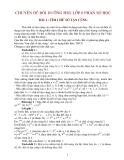 CHUYÊN ĐỀ BỒI DƯỠNG HSG LỚP 6 PHẦN SỐ HỌC