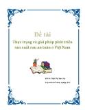 """Đề tài: """"Thực trạng và giải pháp phát triển sản xuất rau an toàn ở Việt Nam"""""""