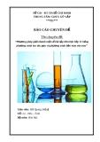 Chuyên đề: Phương pháp giải nhanh một số bài tập Hóa học lớp 11 bằng phương trình ion thu gọn và phương trình bảo toàn electron
