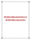 Độ thâm nhập (penetrance) và độ biểu hiện (expressivity)