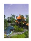 Biệt thự nhà vườn trên diện tích 24 x 34m
