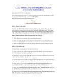 Tài liệu về Luật trọng tài thương mại