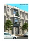 Thiết kế nhà 3,5 tầng hiện đại trên diện tích nhỏ