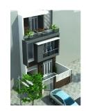 Thiết kế nhà lô 3 tầng trên đất 7m x 15m