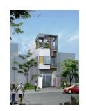 Thiết kế hình khối mặt tiền của ngôi nhà